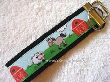 BARNYARD- FARM ANIMALS Key Fobs (really cute keychains)