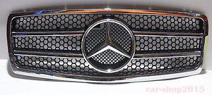 Front Grille Mercedes Benz W140 Chrome & Black 1992-1999 S600 S500 S430 S320