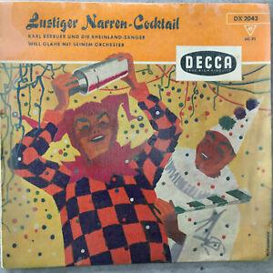 LUSTIGER NARREN-COCKTAIL - Karl Berbuer / Will Glahe (EP Decca DX 2043)