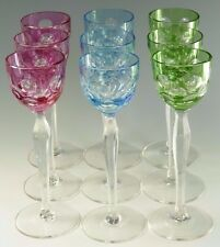 BOHEMIAN Crystal - MRUK59 - Coloured Liqueur Glasses - Set of 9