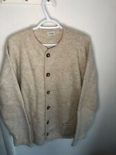 vintage UNITED COLORS OF BENETTON Tan 100% Wool MEN'S XL Cardigan Sweater