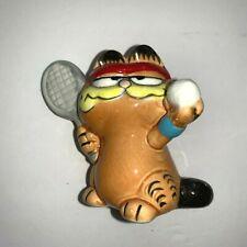 Garfield the Cat Figurine Porcelain Garfield Playing Tennis