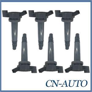 6Pcs Ignition Coil For Toyota Kluger Lexus RX330 RX440H 3.3L 3MZ-FE 90919-02246