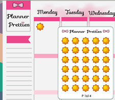 P1614 Kawaii Sunny Weather Trackers Planner Stickers