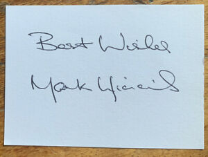Signed Mark Higgins 1980s Manchester United Football White Card Autograph