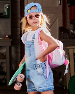 !! EX CHAINSTORE !! GIRLS 2PC SET DUNGAREES AND T-SHIRT ALL SIZES BNWT FREE P&P