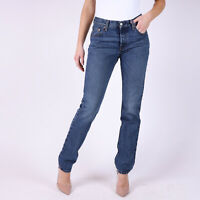 Levi's 501 Original Fit Straight leg Damen blau Jeans DE 34 US W27 L32