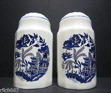 Willow Pattern English Fine Bone China Salt and Pepper By Milton China (PRINT A)