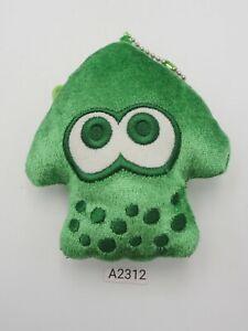 "Splatoon Inkling A2312 Green Squid Zipper Bag Pouch 4"" Plush Toy Doll japan"