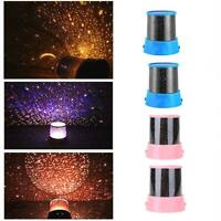 Romantic LED Starry Night Sky Projector Lamp Kids Star light Cosmos Master Favor