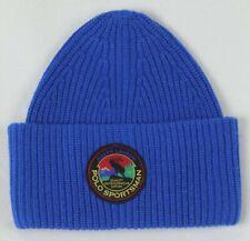 Ralph Lauren Polo Sportsman Royal Blue Wool Beanie Hat Skull NWT