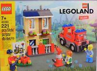 LEGO LEGOLAND Feuerwehrschule 40393 Brennendes Haus Feuerwehrauto RAR NEU