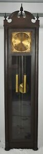 Early Colonial Mfg Company Mahogany Grandfather Clock made Zeeland Michigan Rare