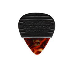 Rubber Grip Thin .46Mm Celluloid Guitar Pick Pack Of 3 Tortoise Shell Picks New