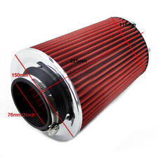 "Universal 3""  Car Long Ram Cold Air Intake Filter Cone Air Filter Auto parts"