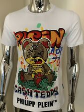 Philipp Plein Teddy Bear Large White Crystal SS T Shirt Genuine BNWT