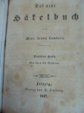 12833 Jenny Lambert Das neu Häkelbuch 1. 2. Heft 1847 / Das neue Strickbuch