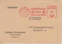 Firmenbrief mit Freistempel Konstanz, Christliche Verlagsanstalt Fr. Bahn, 1958