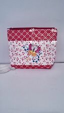Butterfly embroidery makeup bag - Floral makeup bag - Large cosmetic bag - Bag