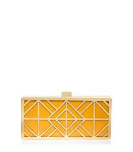 Tory Burch Handbag Frete Clutch Bag/Minaudière in Orange or Navy-NWT-RP: $435
