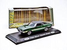 Greenlight escala 1/43 de 86305 1972 Coche Modelo Diecast Gran Torino Sport