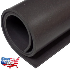 Black Silicone Rubber Sheet 60A 1/16 x 9 x 12 Inch Made in USA Gasket Material