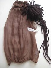 Brown Silk Top 100%silk - New with tags
