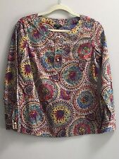 TALBOTS Petites Women Long Sleeves Print Top Size 4 Petite ~ New With Tag