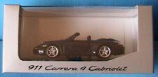 PORSCHE 911 997 CARRERA 4 CABRIOLET 2005 MINICHAMPS 1/43 BLEU DUNKELBLAU METAL