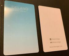 Delano Las Vegas Nevada All Suite Hotel Room Key Card Sky Blue 2016 Issued