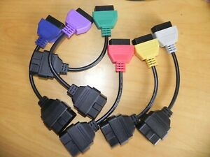 6 Colour Adapter Diagnostic Cable Set for FIAT, ALFA Diagnostics MultiECUScan