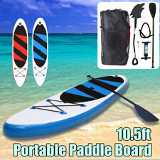 10.5' SUP Inflatable Stand Up Paddle Board Surfboard Kayak Paddle Pump Gift Surf