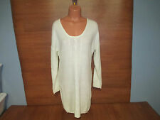 New Womens Plus Size 1X Stevie & Lindsay Ivory Tunic Sweater Dress Or Top @@