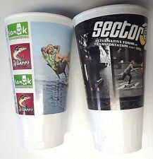 2 Wahoo's Fish Taco Collector's Drinking Cups, Hard Plastic ,Surf & Skate ,Pepsi