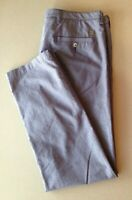 Hugo Boss Trousers Men's 38R Blue Tapered 100% Cotton Flat Front Chino Pants