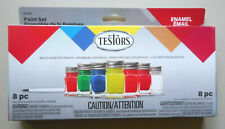 Fluorescent Enamel Paint Set 6 Colors & Thinner TESTORS HOBBY PAINT MODEL 9132
