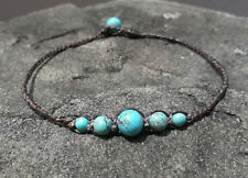 Turquoise Anklets,stone anklets,Men and Women anklets,handmade