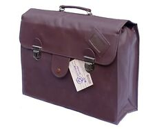 1980's Ex-Army Officers Briefcase Document Attache Spacious Bag Brown Black New