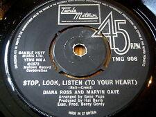 """DIANA ROSS & MARVIN GAYE - STOP, LOOK, LISTEN (TO YOUR HEART)     7"""" VINYL"""