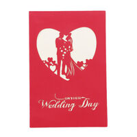 3D Big Heart Valentine Anniversary Wedding Birthday Greeting Card Jian