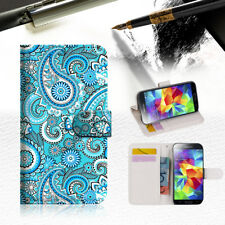 Seamless pattern with paisle Wallet Case Cover For Samsung Galaxy S5 - A022