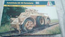 Italeri Autoblinda AB 40 Ferroviaria Model New 1:72