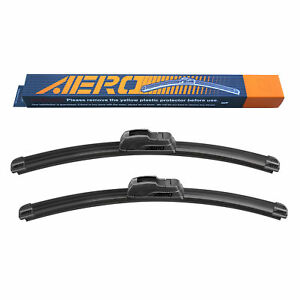 "AERO 22"" / 22"" OEM Quality All Season Beam Windshield Wiper Blades (Set of 2)"