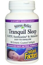 Natural Factors Stress-Relax Tranquil Sleep 90 Soft gels. NEW sealed