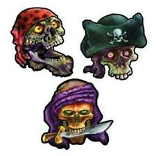 Pirate Skull Cutouts 3 Pack Pirate Birthday Halloween Party Wall Prop Decor
