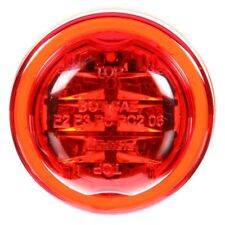 10 Series, LED, Red Round, 8 Diode, Marker Clearance Light, PC, PL-10, 12V