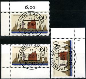 """Bund Eckrand """"Verden"""", 3 verschiedene Varianten, Formnummer 1, MiNr 1240"""