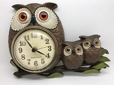 Vintage New Haven Quartz Owl Clock, Burwood Products Co - Needs Repair (RF664)