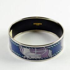 Hermes Enamel Printed Large Quadrige Bracelet Size 70 - Color 10 Mineral