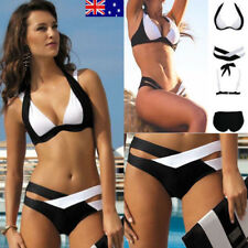 AU Women Bikini Set Swimsuit Padded Push-up Bra Triangle Swimwear Bathing Suit